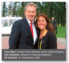 Ella Kokotsis and Tony Blair