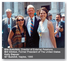 Ella Kokotsis and Bill Clinton